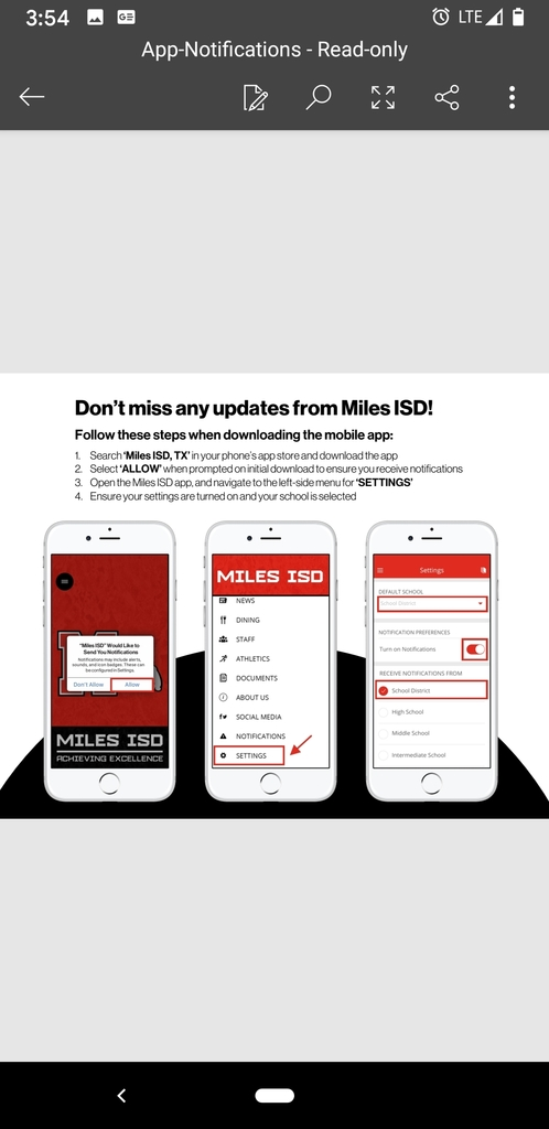 Check out the new Miles ISD App