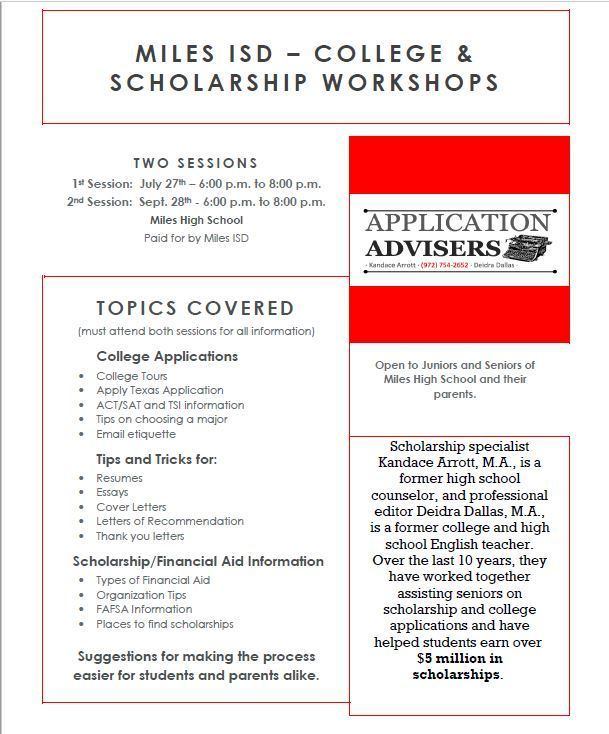College_Scholarship Workshop